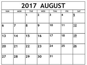 microsoft blank calendar templates august 2017 calendar template free calendar template