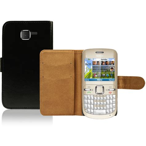 Casing Nokia C3 00 Wellcomm flip pu leather flip wallet cover for the nokia c3 00
