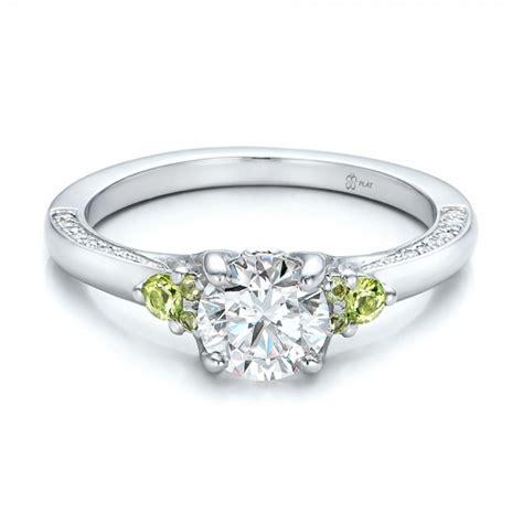 Peridot Engagement Rings by Custom Peridot And Engagement Ring 100887