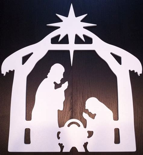 Outdoor Decor Nativity Scene Inventrush Nativity Yard Sign Template