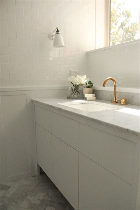 tiles on board for bathrooms bathroom with white subway tiles on upper walls and board