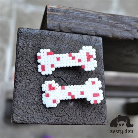 perler bead hair accessories pair of bloody bones perler hama hair by