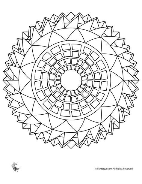 Sunflower Mandala Coloring Page | Woo! Jr. Kids Activities