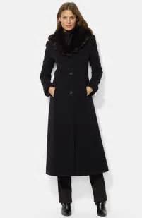 ralph faux fur shawl collar wool blend