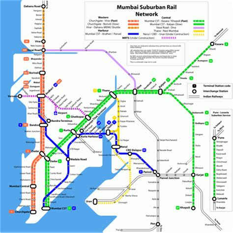 mumbai map image mumbai railway map