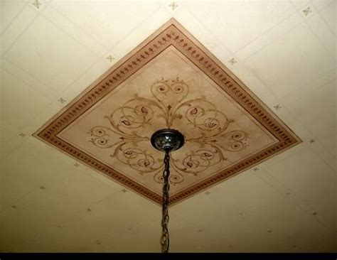 square ceiling medallion stenciled stencils ceiling