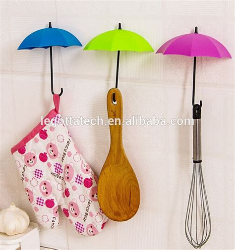 wall hooks without nails creative design new colorful hanger plastic umbrella