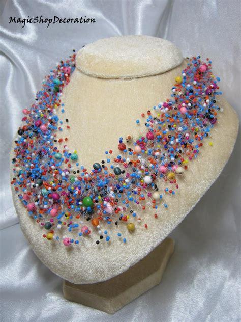 Handmade Wedding Jewellery - multicolor beaded necklace jewelry handmade jewellery