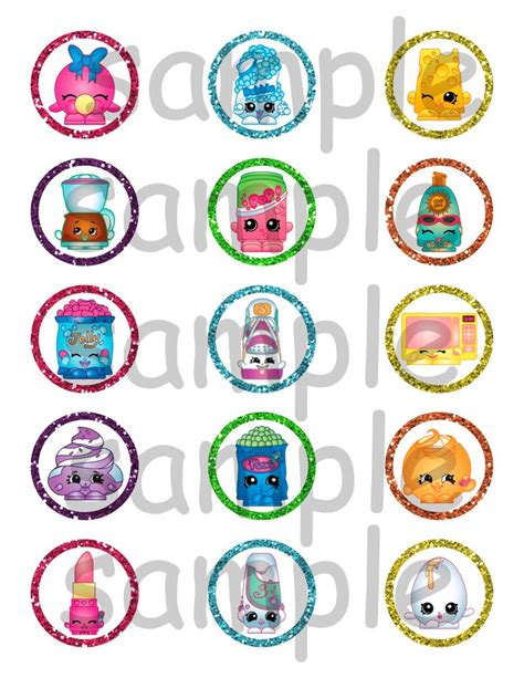 printable shopkins stickers shopkins birthday party 1 3 4 quot cupcake toppers stickers