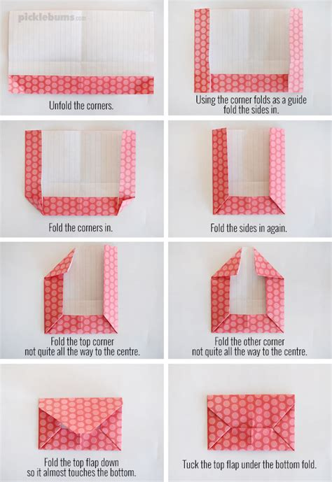 Fold Paper Into An Envelope - two easy foldable letters picklebums