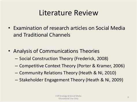 Literature Review Image Media by Literature Review Examination Of