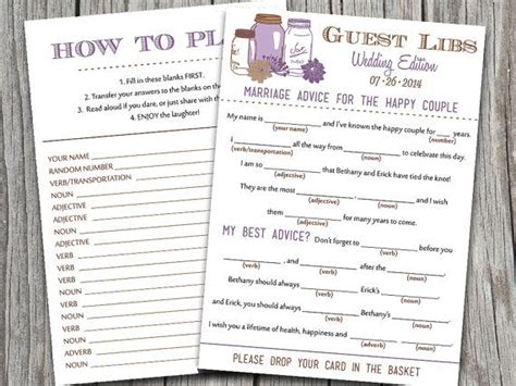 guest libs wedding edition template gallery of free printable wedding mad libs template