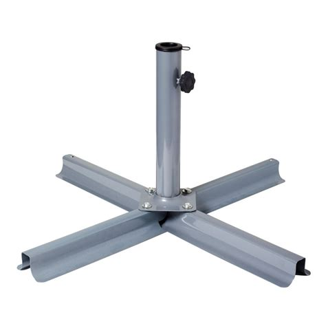 Patio Umbrella Stands Corliving Grey Patio Umbrella Stand The Home Depot Canada