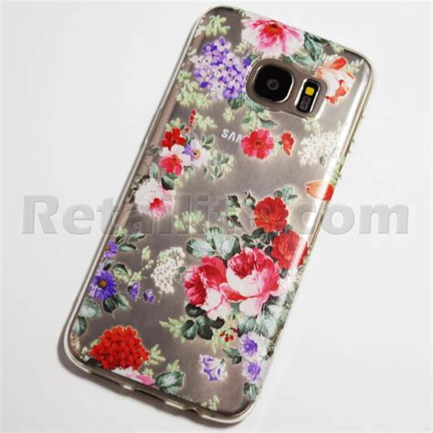 colorful flowers samsung galaxy  edge case retailite