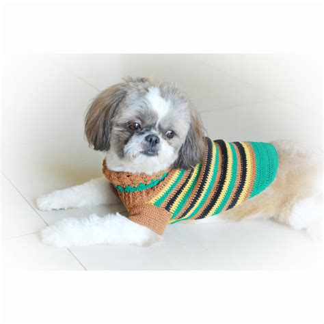 teacup clothes items similar to teacup chihuahua clothes rasta stripes pet clothing shirts casual