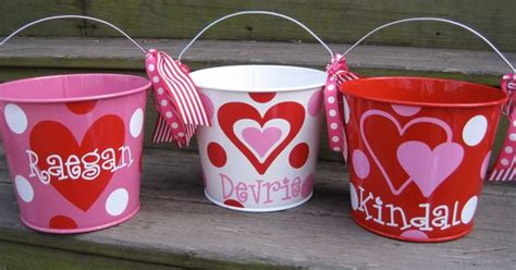 crown craft bucket personalized valentine bucket assorted colors 5 qt 22 00
