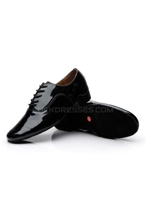 flat ballroom shoes s black leatherette modern ballroom