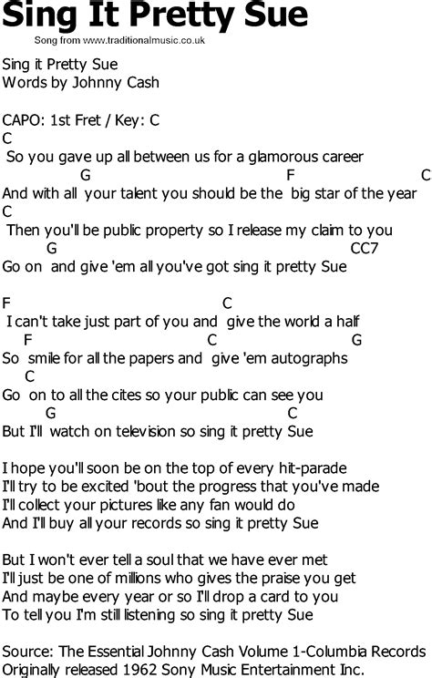 song to sing country song lyrics with chords sing it pretty sue