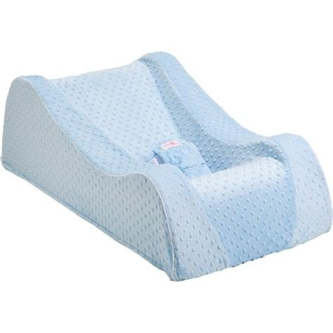 Nap Nanny Infant Recliner by Nap Nanny Chill Portable Recliner In Minky Blue