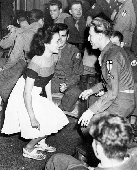 swing 1940s soldiers and gals at a uso 1944 vintage 1940s