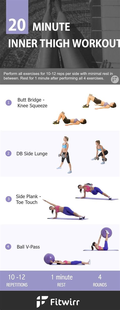 25 best ideas about inner thigh workouts on