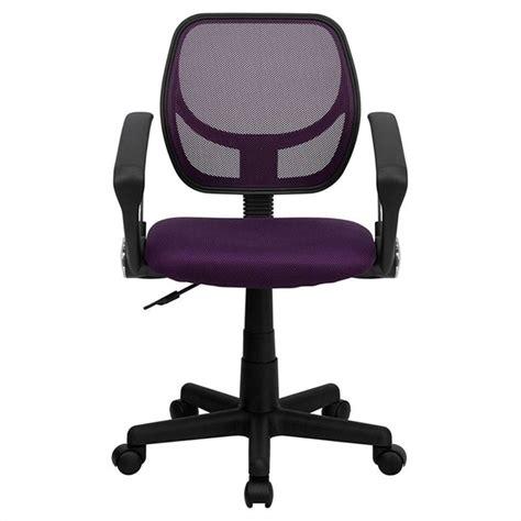 mid back purple mesh office chair wa 3074 pur a gg