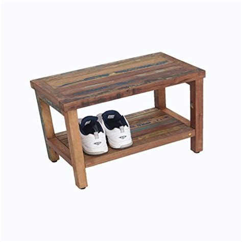 recycled wood bench reclaimed salvaged rustic recycled 29 quot boat wood bench indoor outdoor bench rustic