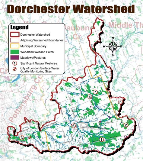 thames river ontario map dorchester watershed map utrca inspiring a healthy