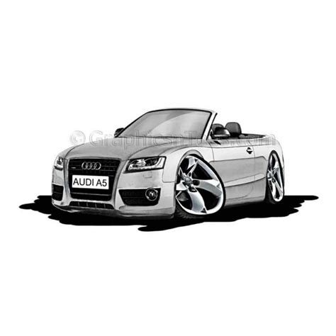 cartoon audi audi a5 cabriolet cartoon caricature