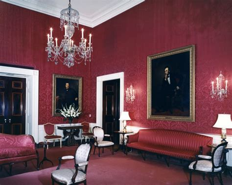 red room kn c16087 red room white house john f kennedy