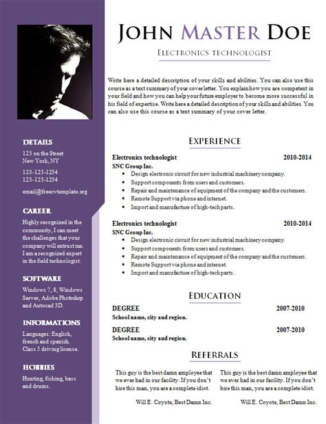 Doc Resume Templates by Resume Template Doc Learnhowtoloseweight Net