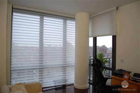 Window Treatments For Floor To Ceiling Windows by Douglas White Silhouette Shades Living Room Floor