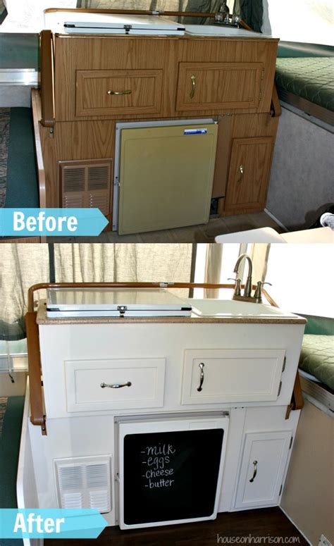 Pop Up Camper Remodel: Replacing the Countertops   The Pop