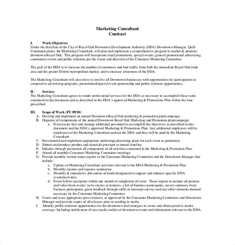 marketing consultant contract template consultant agreement template 15 free word pdf