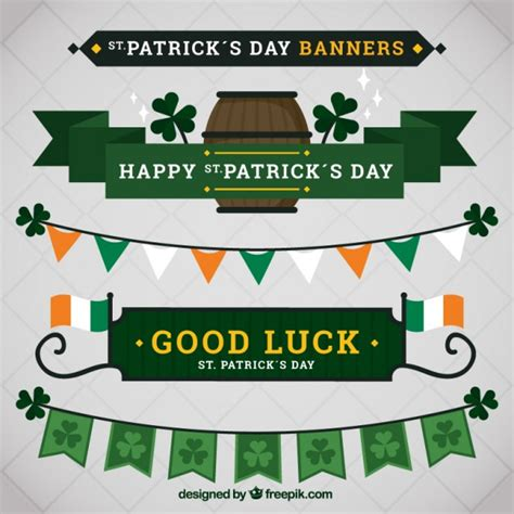 day banners free st s day banners pack vector free
