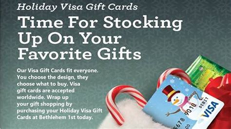 Union Bank Visa Gift Card - gift card bethlehem 1st federal credit union