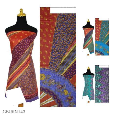kain batik printing katun motif kipas zig zag beras wutah