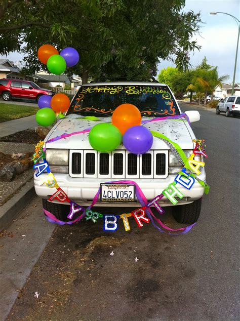cer makeover ideas decorate car for birthday birthdays pinterest