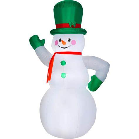 christmas santa green giant 10 ft snowman inflatable