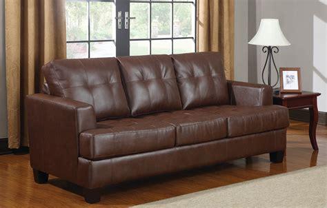 samuel leather sofa coaster samuel leather sleeper sofa in brown