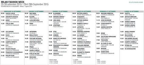 Calendario Milan Moda Donna Calendario Sfilate Target Donna