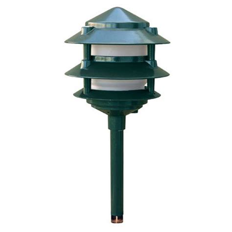 3 tier landscape lighting filament design corbin 1 light green 3 tier outdoor pagoda pathway light cli dbm5626 the home