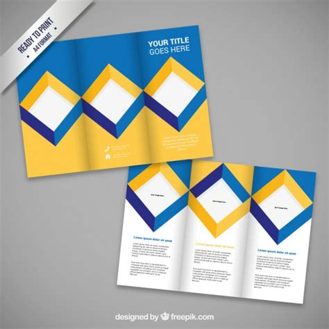 design free brochure brochure design with squares vector free download