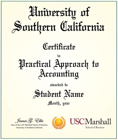 Usc Professional Mba Diploma by Stock Of Usc Certificate Programs Business Cards
