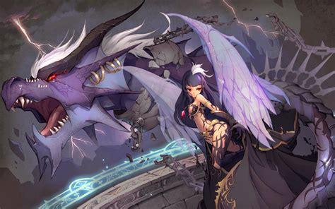 anime dragon girl wallpaper anime dragon wallpaper wallpapersafari
