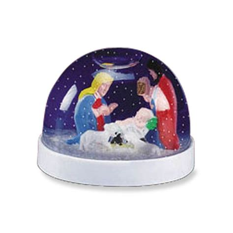 mark roberts musical creche globe nativity snow globe