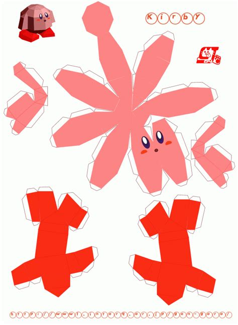 Kirby Papercraft - gamer unite content creative related ideas