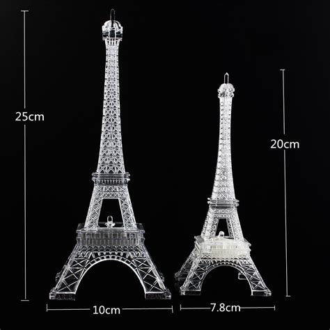 eiffel tower table l mini color changing eiffel tower night light led table