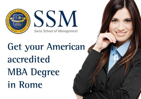 Accredited Mba In by 1 Year Mba Degree In Rome International Accredited Mba