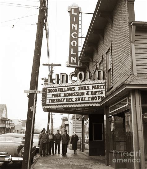 the lincoln pa the lincoln theatre 318 st dupont pa 1950s photograph